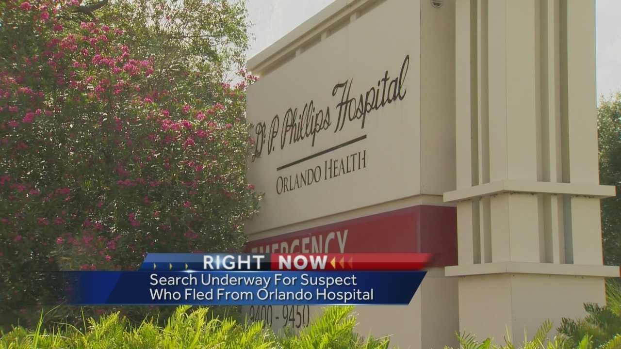 Theft suspect escapes from Dr. Phillips Hospital
