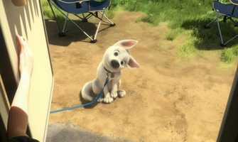The crime-fighting dog Bolt.