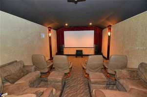 Homely theater is perfect for family gatherings and is sound proof.