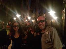 WESH crew about to ride Harry Potter and the Escape from Gringotts