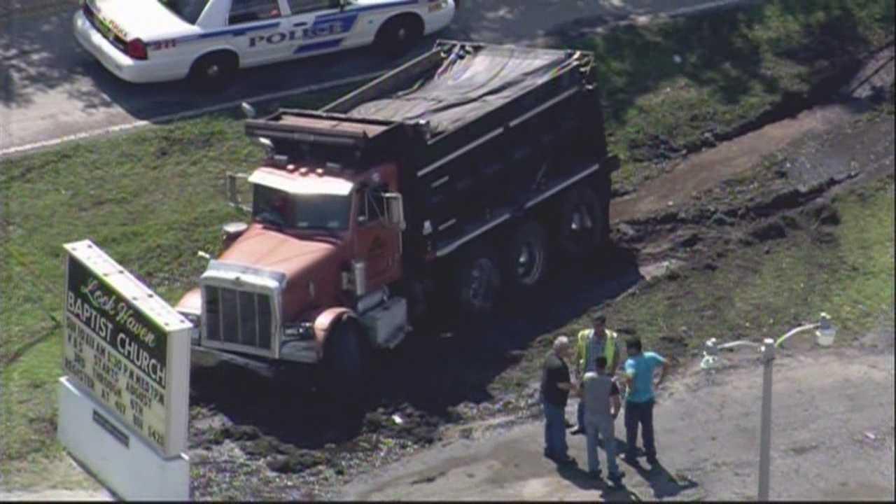 img-FHP 2 killed in dump-truck crash on Boggy Creek Road