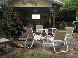 Backyard damage in New Smyrna Beach