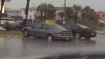 Storm damage in New Smyrna Beach