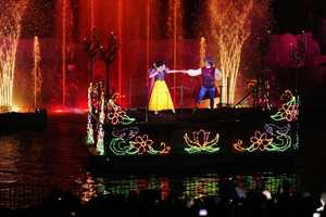 Fantasmic! -- Each night, guests will find themselves engulfed in Mickey Mouse's imagination, which is filled with favorite Disney heroes and villains. The nighttime show includes stunning pyrotechnics, laser lights and dramatic effects.