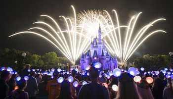 Wishes Nighttime Spectacular -- Guests will gather around Cinderella Castle to watch the sky above it light up with fireworks. Disney favorites like Tinker Bell and Jiminy Cricket even make an appearance.