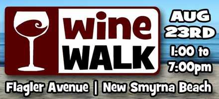 """3. Wine Walk at New Smyrna BeachWhen: Saturday, August 23, 2014, 1 p.m.- 7 p.m.Wne Walk is a progressive wine tasting along Flagler Avenue where participants can taste 20 of the more than 100 showcased wines, as well as attend art showcases and demonstrations (e.g. glass blowing) and shop along Flagler Avenue.Participating Wine Walk host locations include Toni and Joe's Patio, Flagler Tavern, Peanuts Restaurant and Sports Bar, OM Bar & Chill Lounge, Traders' Sports Pub, Galleria De Vitro, Manzano's Fine Foods, Gyftz, Clancy's Cantina, That's Amore, Café Heavenly, and Ta Da Gallery.Happening simultaneously to Wine Walk is the Gallery Group's Art Walk, which also takes place on Flagler Avenue but from 10am to 5pm. Art Walk offers artists showcasing and selling their creations, a register-to-win art drawing, and gallery guest artist demonstrations. The Flagler Avenue Gallery Group represents the Avenue's galleries and includes Gallery de Vitro, Jewelry of Joy, Palms Up Pottery and Ta Da Gallery.Cost:Available with purchase is a """"passport"""" for $25 which includes a keepsake wine glass ($20 with a returning official wine walk glass).Where: Flagler Avenue, New Smyrna BeachFlagler Ave.,New Smyrna Beach, FL"""