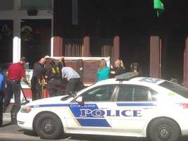 A woman died, a man is in critical condition and an officer is injured after a shooting downtown, according to the Orlando Police Department.
