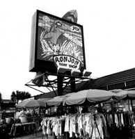 Early 1980s: Outside Ron Jon Surf Shop