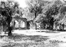 1929: Ruins of the New Smyrna Sugar Mills in New Smyrna Beach