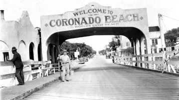 1940: Entrance to Coronado Beach, now New Smyrna Beach
