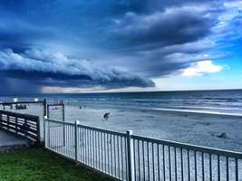 2013: Storm moving into New Smyrna Beach