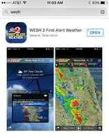 You can find the WESH 2 First Alert Weather App by searching WESH in your iPhone's app store or Android's Google Play store.