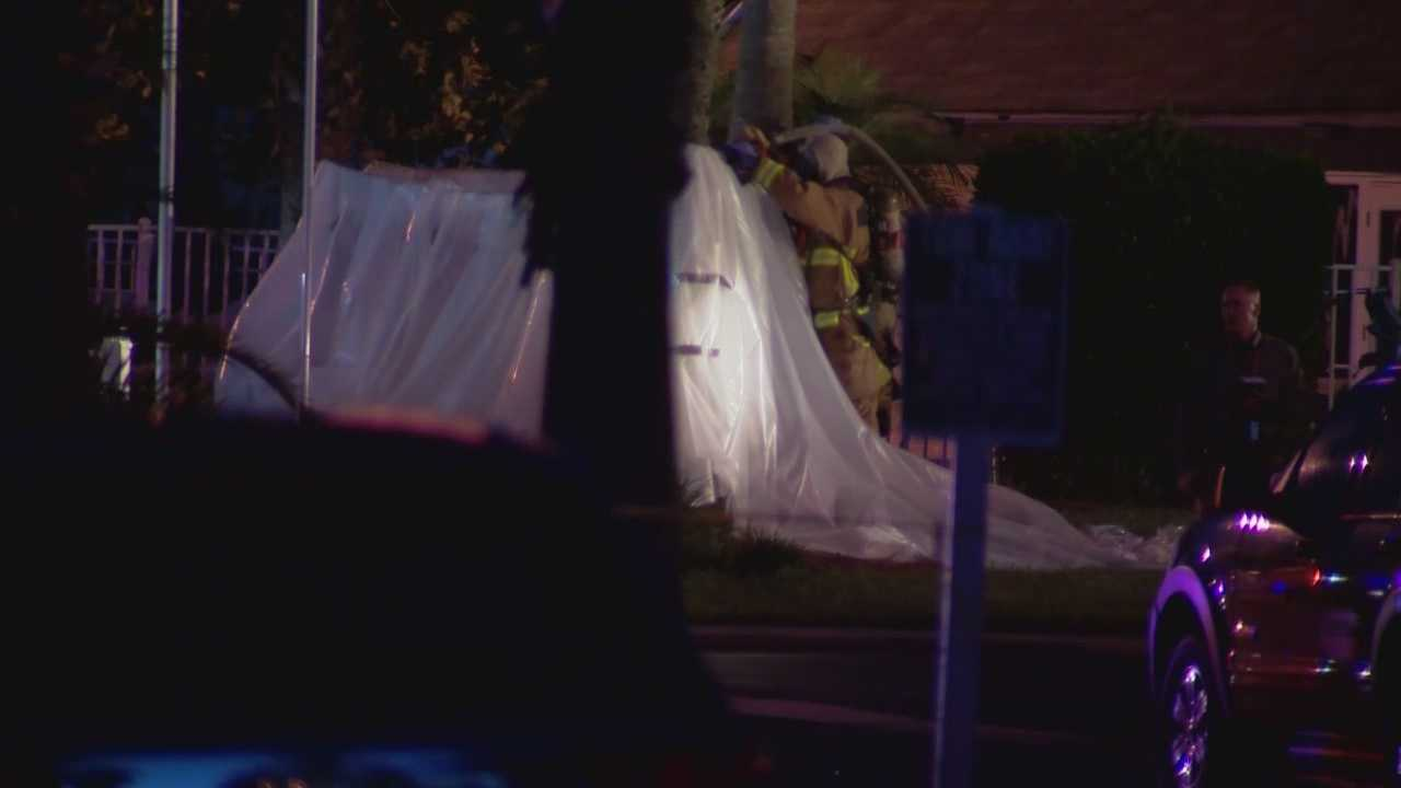 The suspect in an early morning home invasion leads Orange County deputies to a meth lab.