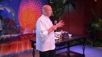 Epcot Executive Chef Jens Dahlmann got the festivities started at the media sneak peek. Click through to check out some of the items.