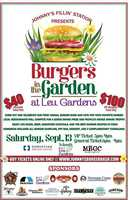 4. WHAT:Johnny's Fillin' Station presents Burgers in the Garden at Leu GardensWHEN:Saturday, Sept. 13, 2014, 6 p.m. - 9 p.m.Local restaurants will battle it out for the $3000 grand prize and people's choice award trophy for best burger. Enjoy live music, beer, signature cocktails and the best burger recipes in town. Admission includes all burger samplings, fry bar, dessert, and 2 complimentary yuengling beers. VIP purchase allows early entry, AYCD, and additional entertainment.COST: Visit EventBrite.com for pricing.WHERE:Leu Gardens1920 N. Forest Ave.,Orlando, Fla.
