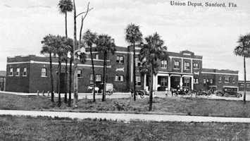 1920: View of the Union Depot in Sanford