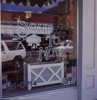 1992: Storefront view of the Soup to Nuts diner on East First Street in Sanford.