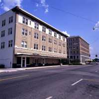 1976: View of building on North Park Avenue in the historic Sanford commercial district