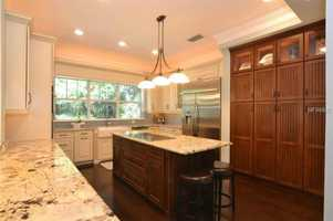 Enjoy your beautifully updated large kitchen with center island.