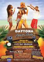 3. Daytona Beach PartyWhen: Sat. 9 a.m. - 6:30 p.m. Where: Meet at Tamas Restaurant, Cost: Tickets are $30, online $35, and a week before the event $40. With the ticket you will have access to get in the bus for a round trip, free food and soft drinks. Free games, music ,BBQ, drinks and more. Two of 57 passenger buses will be station at Tamas Restaurant to pick up at 9 a.m. prompt and return at 6:30 p.m.