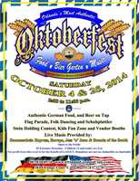 4. Oktoberfest 2014 # 2When: Oct. 25, 2 p.m. to 11 p.m.Where: German American Society of Central Florida, 381 Orange Lane, Casselberry, FL 32707Admission: $5 entrance donation, kids under 12 enter freeActivities: Traditional German food, beer, live band performances, folk dancers, contests
