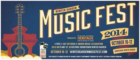 6. Winter Garden Music FestWhen:Fri., Sat., Sun.Winter Garden's historic downtown district opens its doors to all genres and artists, from rock to classical to world beat – all from Central Florida. Stroll through the shops, cafes and streets and see all performances for free.Where: Downtown Winter Garden