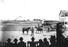 1840s: Fairgrounds in Apalachicola, Florida.