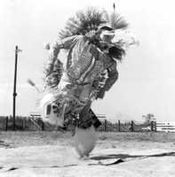 1973: Dancing at the Seminole Tribal Fair.