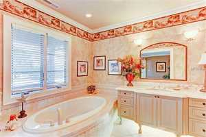 Luxuriate in this extra-large spa tub.