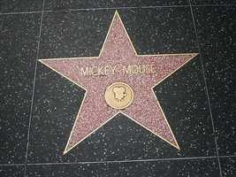 9. Mickey Mouse was the first animated character to have a star on the Hollywood Walk of Fame, which was given on his birthday in 1978.