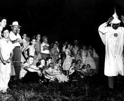 Crowd attending a KKK rally in Tallahassee on Sept. 1, 1956.