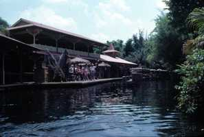 Docking station for the Jungle Cruise amusement ride in 1979