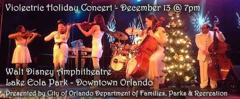 3. Violectric performs at Lake EolaWhere: Walt Disney Amphitheatre at Lake Eola Park, 99 N. Rosalind Ave, Orlando, Florida 32801When:Saturday, 7 p.m.Learn all about Violectric in our recent feature on them by clicking here.