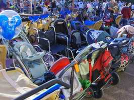 8. Bring a stroller larger than 36 inches by 52 inches
