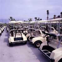 1992 - Golf carts at the Cocoa Beach Country Club