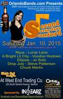 4.Second Saturdays in SanfordWhen:Sat., 7 p.m.Where:West End Trading Co., 111 W First St., Sanford, FL 32771Cost: $5Features two stages of live entertainment and food and beverage specials.