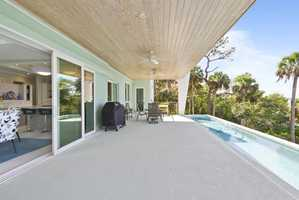 Plus, there's ample entertaining space on the elongated deck.