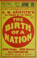 """The year was 1915. Silent movie mogul D.W. Griffith produced and directed a highly controversial film, """"The Birth of a Nation."""" The film depicted African Americans as villains, and eventually was used as a tool to recruit KKK membership. Image: Wikimedia Commons"""