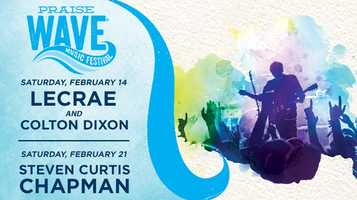 3. Praise Wave Music Festival at SeaWorld OrlandoWhen:SaturdayWhere: SeaWorld OrlandoCost:Park admissionEnjoy some splashes and thrill rides and catch some tunes listening to the hottest names in Christian music. Grammy-award winner Lecrae will be performing on Saturday followed by Colton Dixon.