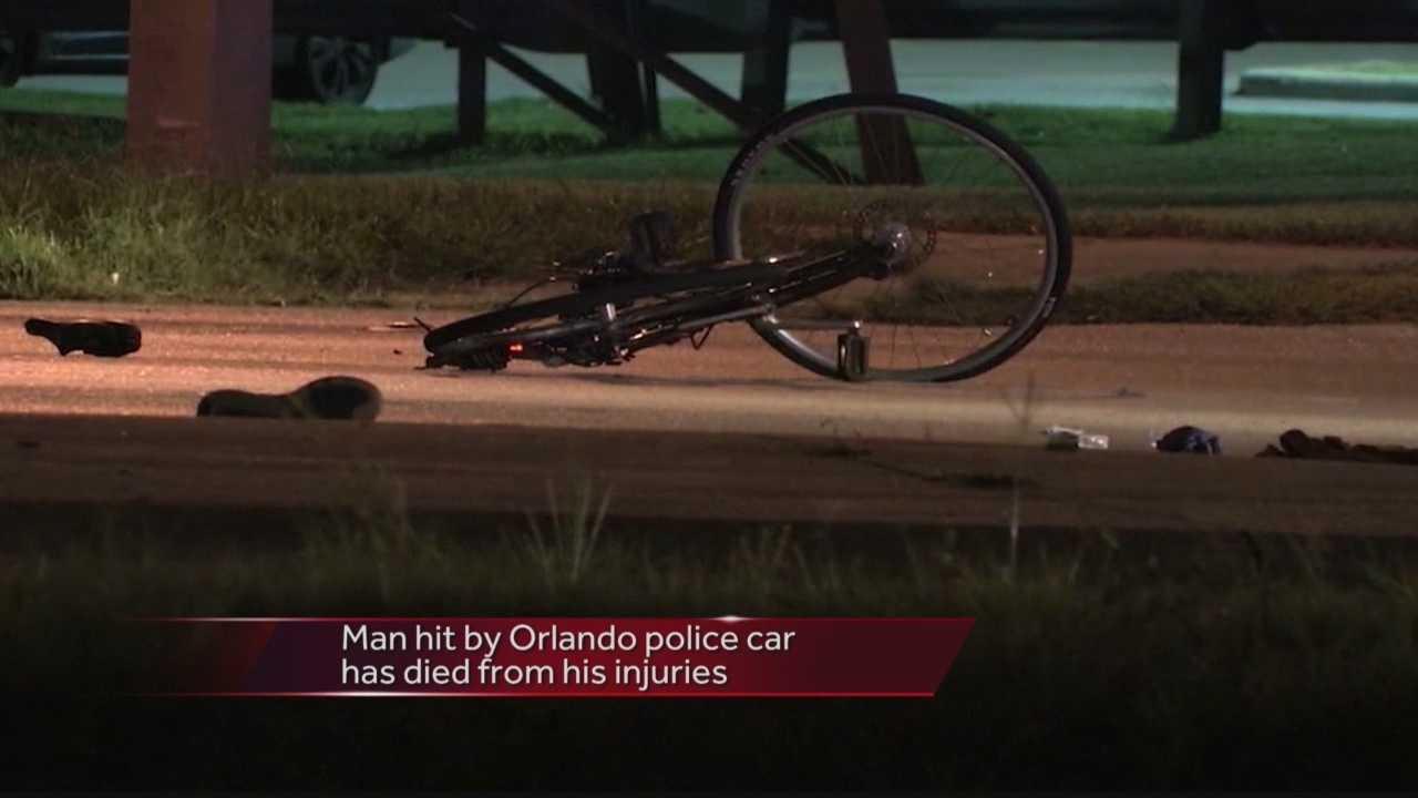 Bicyclist struck by Orlando police car dies