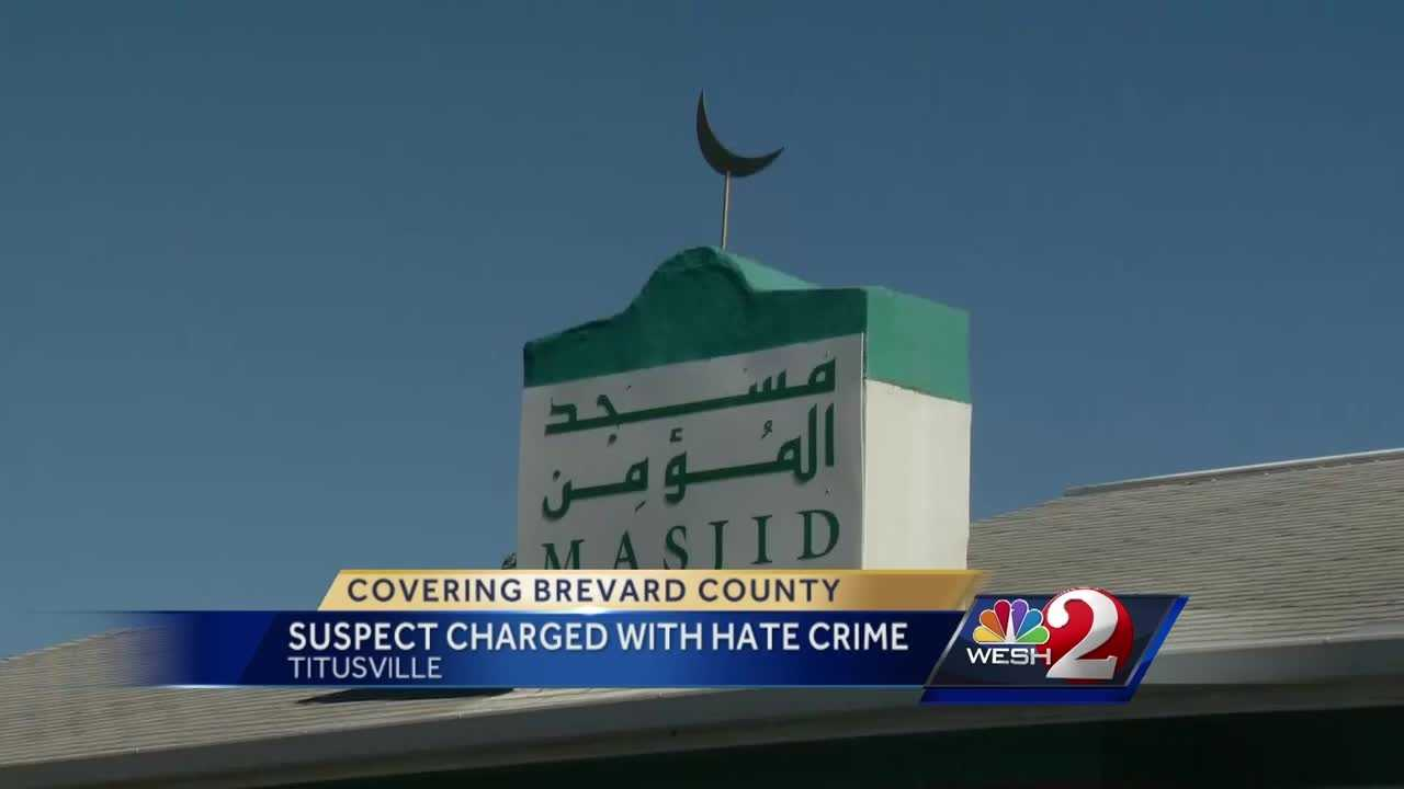 A man charged with vandalizing a Titusville mosque could spend life in prison after prosec decision to charge him with a hate crime.