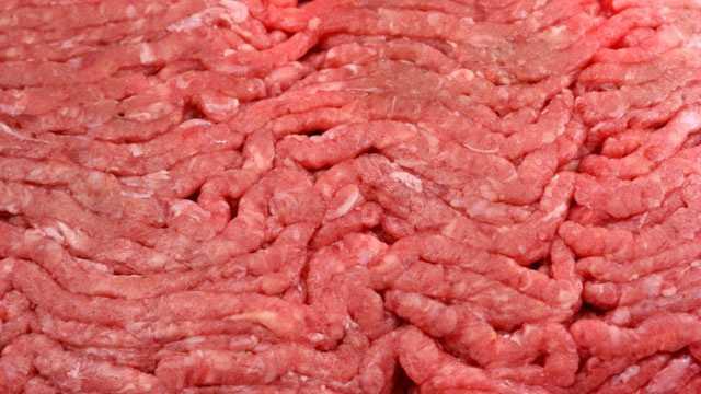 raw ground beef closeup