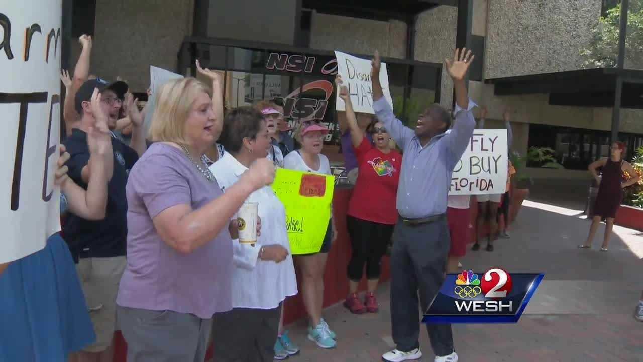 Demonstrators demand special session on gun control