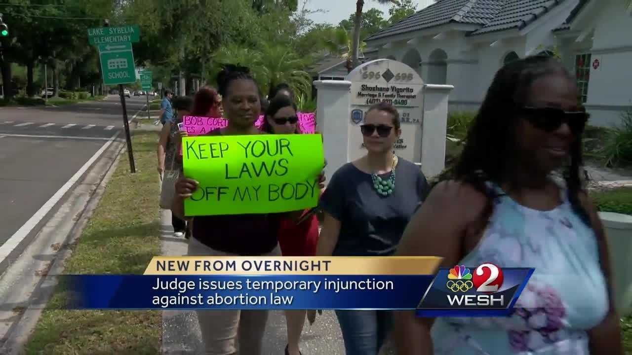 Judge issues temporary injunction against abortion law