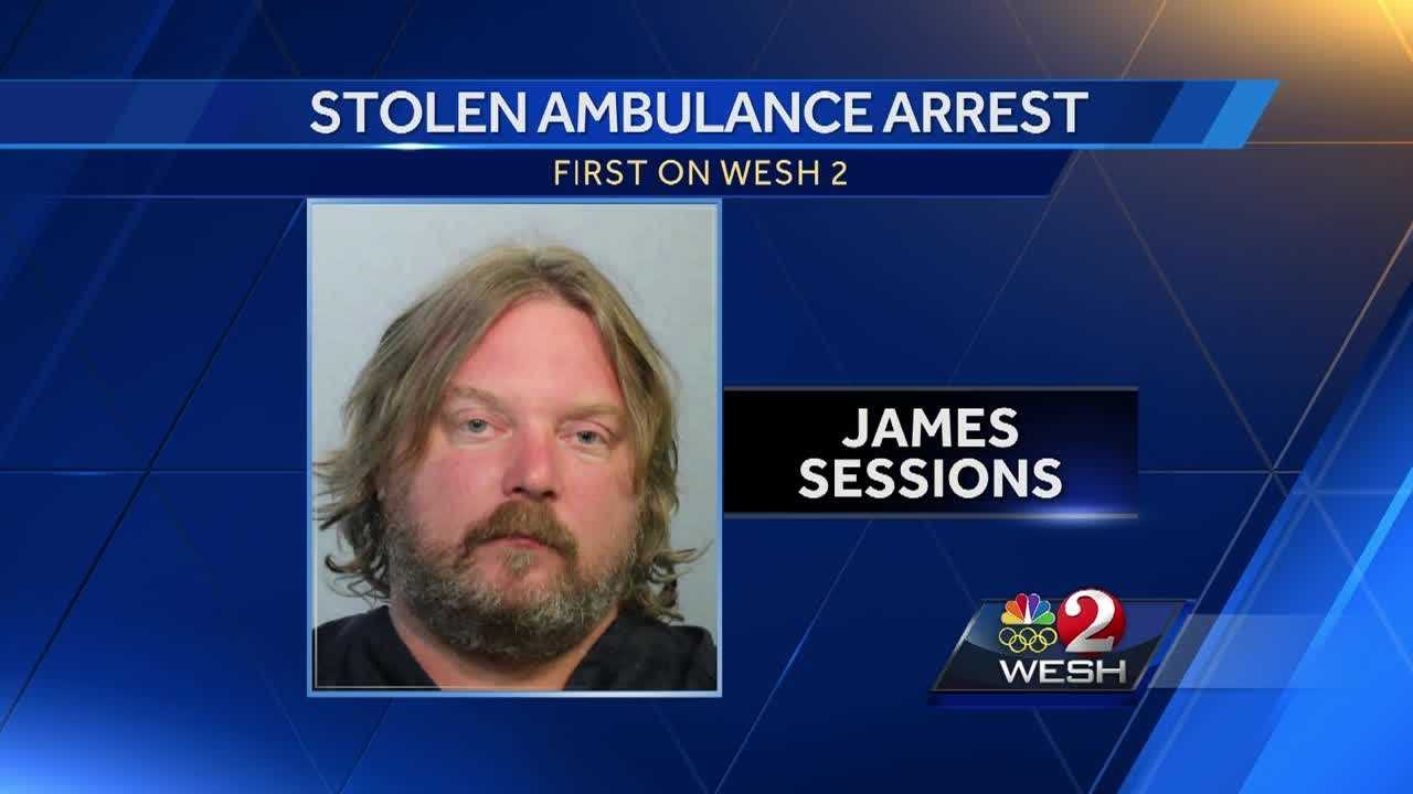 Man accused of stealing ambulance with paramedic inside