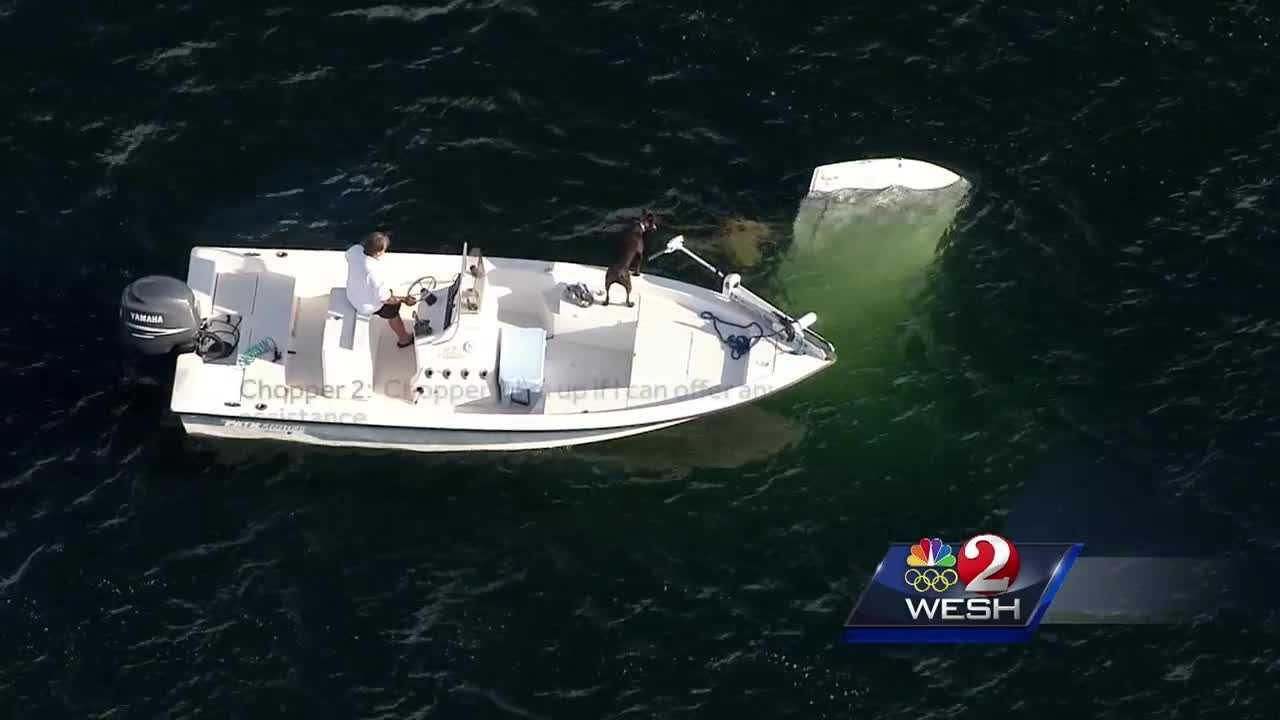 Fishermen help rescue man, child after small plane crash