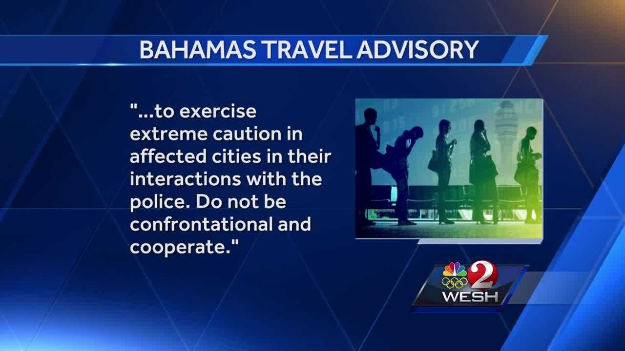 Bahamas issues warning for those traveling to the U.S.