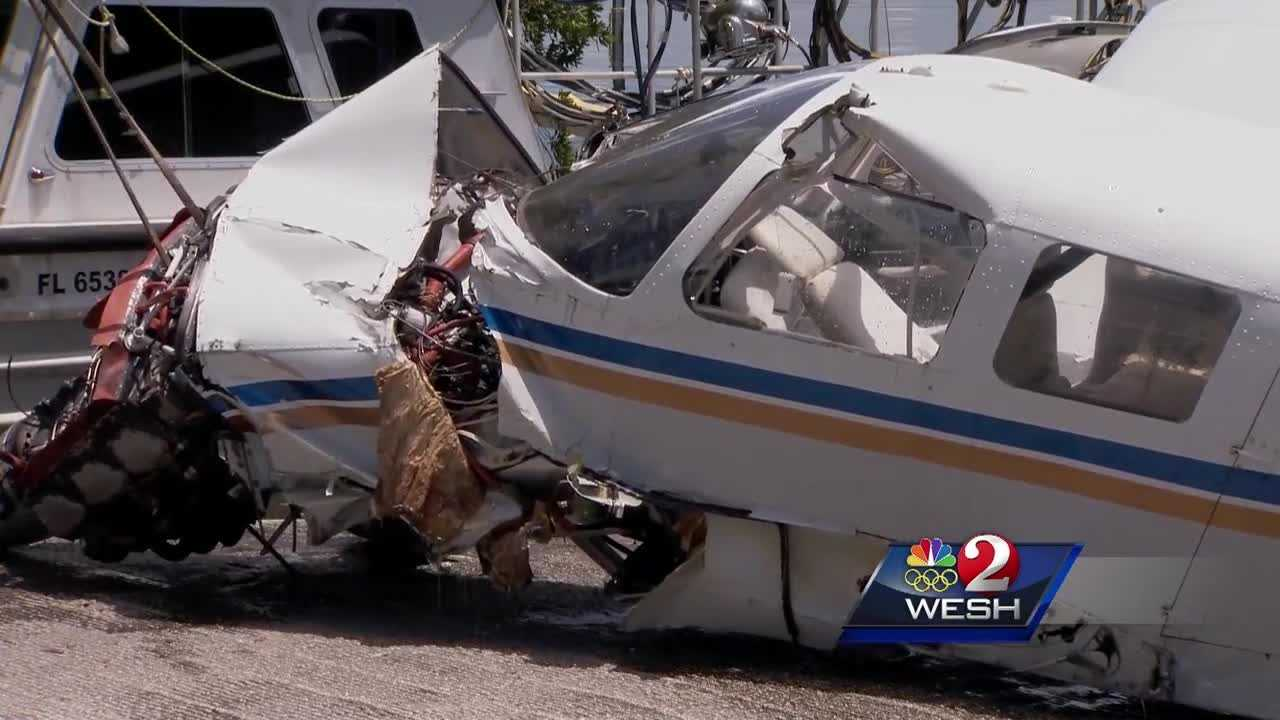 Man, stepdaughter pulled from lake after plane crash
