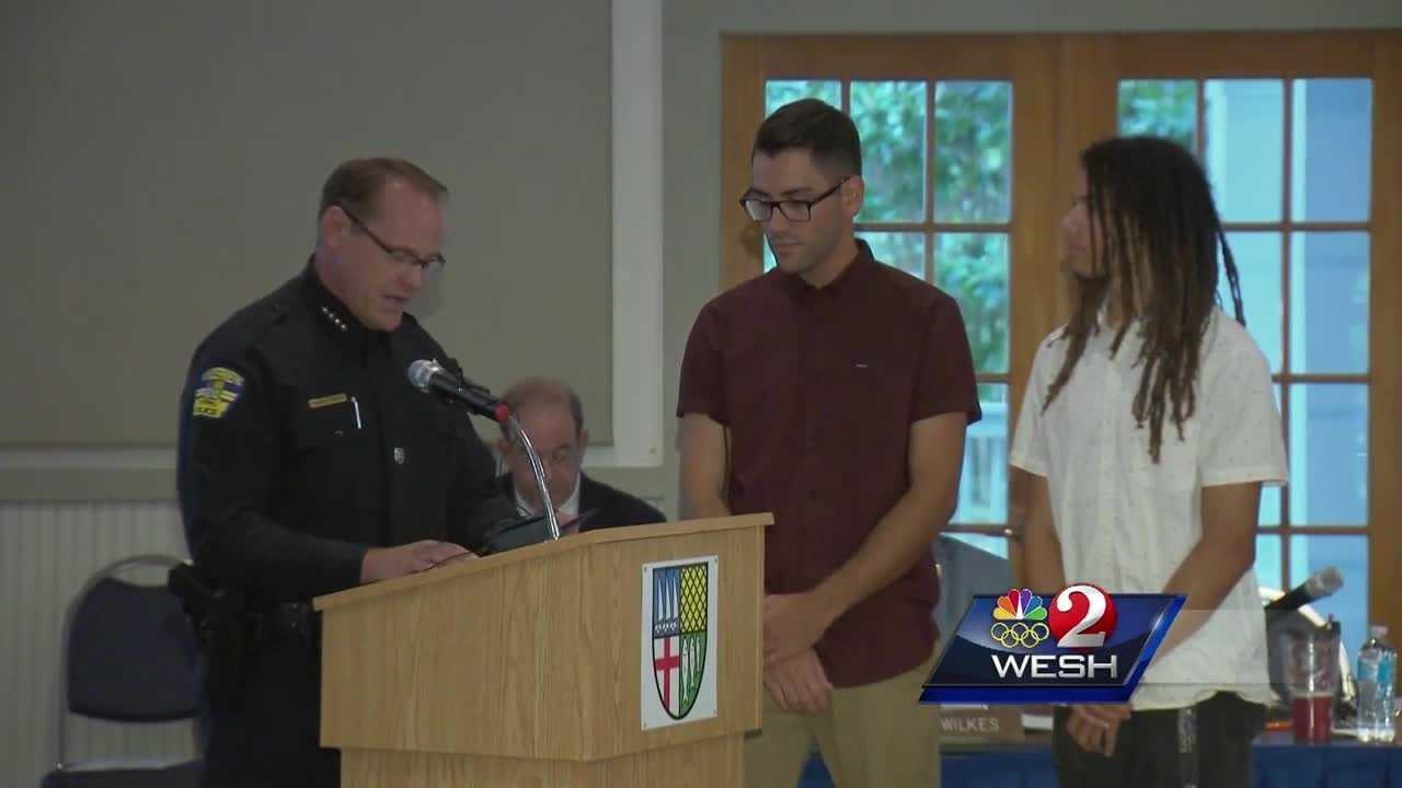 Plane crash heroes honored in Windermere
