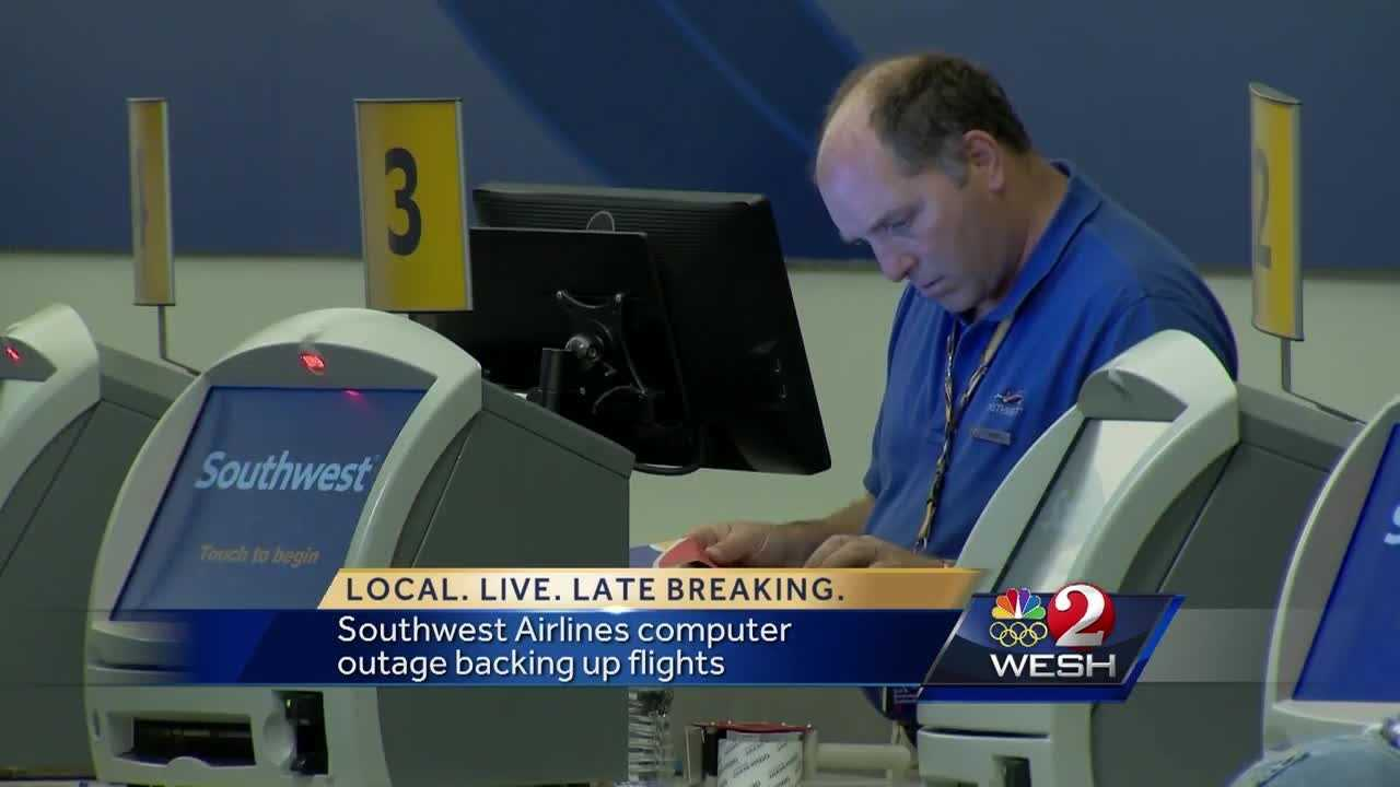 Southwest Airlines computer outage backs up flights